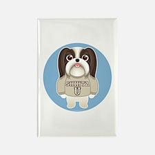 SHIHTZ U. Boy Dog Rectangle Magnet