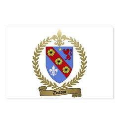 DUFOUR Family Crest Postcards (Package of 8)