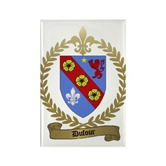 DUFOUR Family Crest Rectangle Magnet (100 pack)