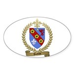 DUFOUR Family Crest Oval Sticker