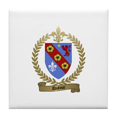 DUFOUR Family Crest Tile Coaster