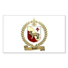 DUGAS Family Crest Rectangle Decal