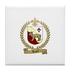 DUGAS Family Crest Tile Coaster