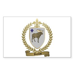 DUMAS Family Crest Rectangle Decal