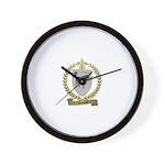 DUMAS Family Crest Wall Clock