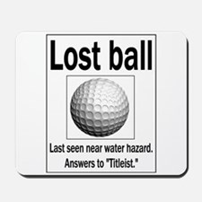 Lost ball Mousepad