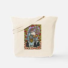 Blue Santa Tote Bag