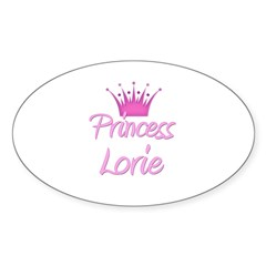 Princess Lorie Oval Decal