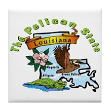"""Louisiana Pride"" Tile Coaster"