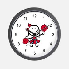Girl & Cheerleading Wall Clock