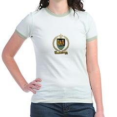 FOUQUET Family Crest Jr. Ringer T-Shirt