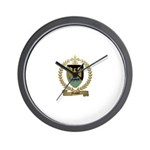 FOUQUET Family Crest Wall Clock