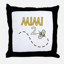 Mimi to Be (Bee) Throw Pillow