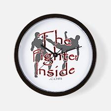 TheFighterInside.com Wall Clock