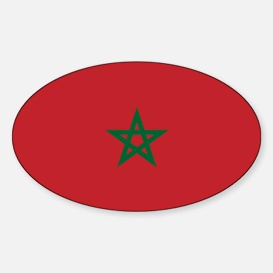 Flag: Morocco Sticker (Oval)