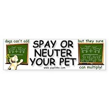 Spay / Neuter Bumper Bumper Bumper Sticker