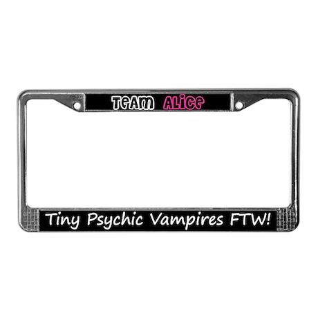 Team Alice Twilight License Plate Frame