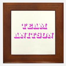 Team Jennifer Aniston Framed Tile