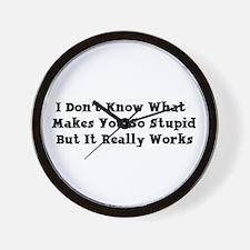 Stupid People Wall Clock