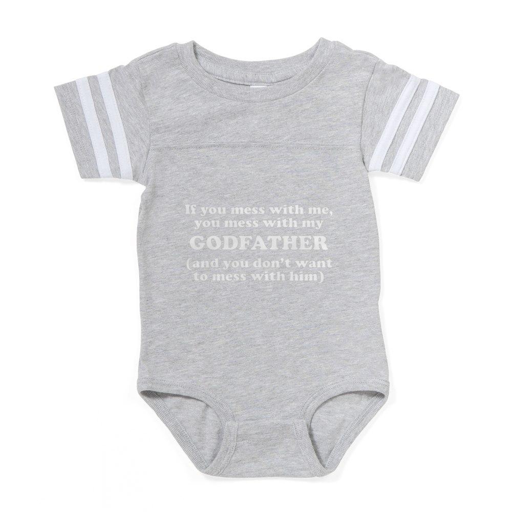 324158743 CafePress You Mess With My Godfather Baby Football Bodysuit