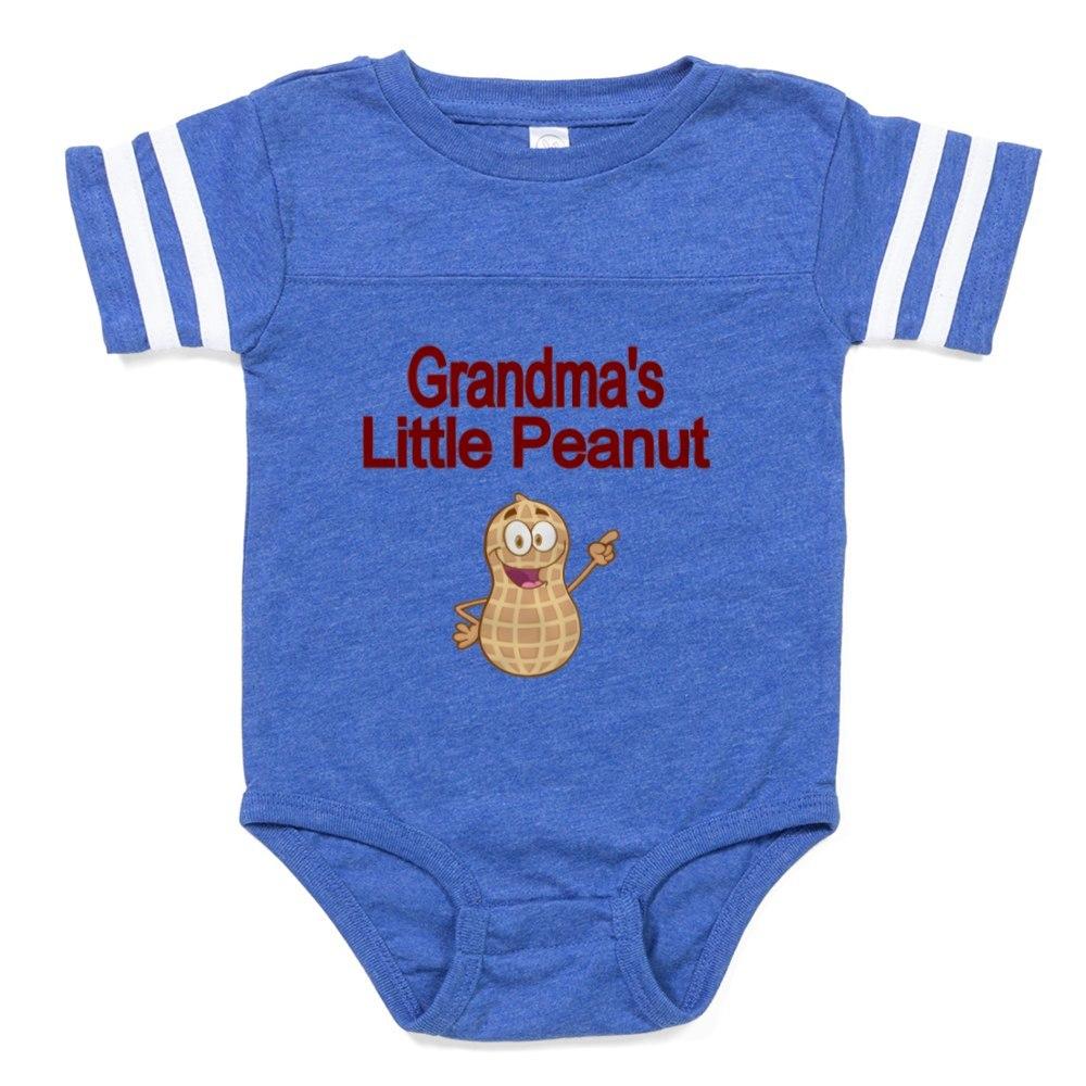 324159171 CafePress Grandmas Little Peanut Baby Football Bodysuit