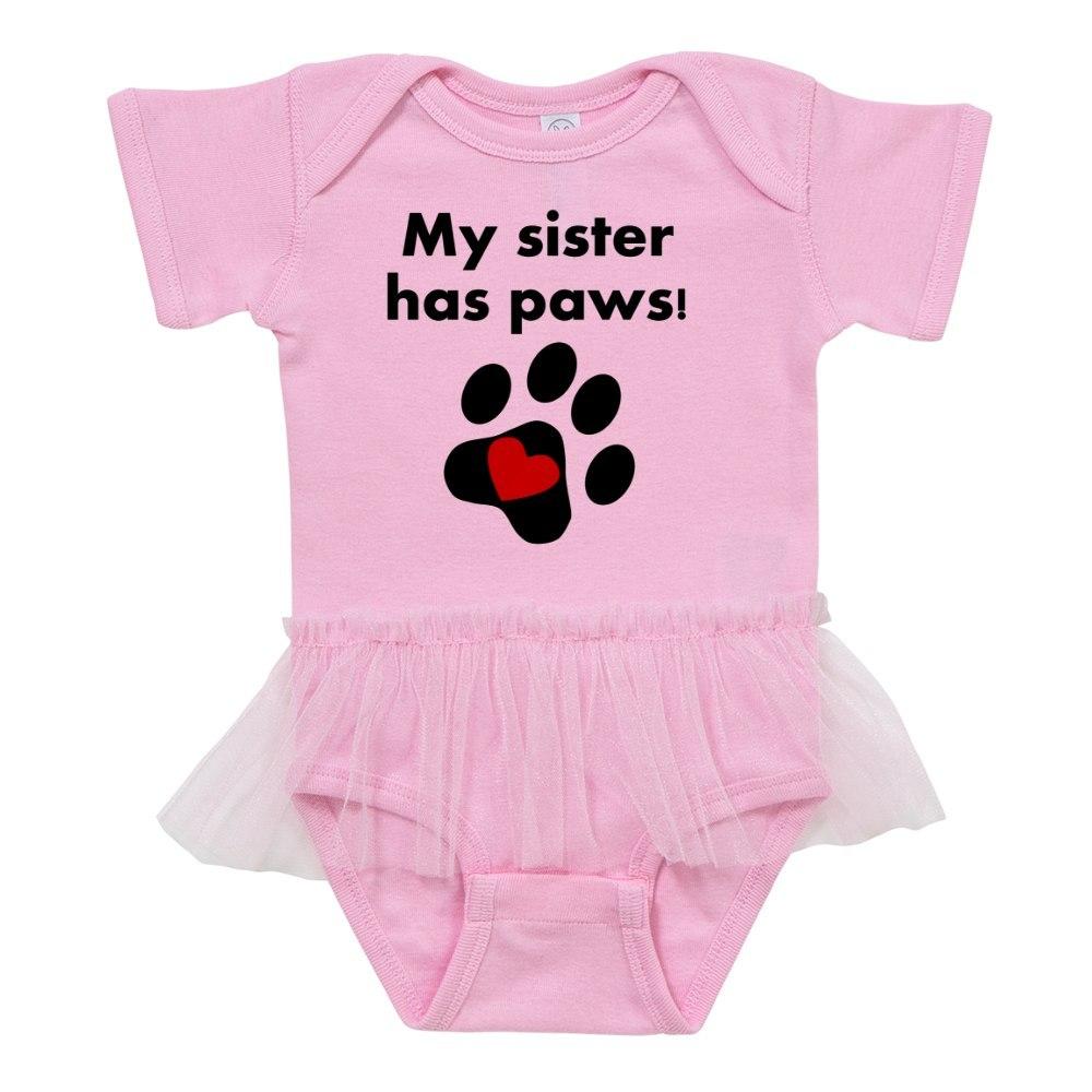 324163500 CafePress My Sister Has Paws Baby Tutu Bodysuit
