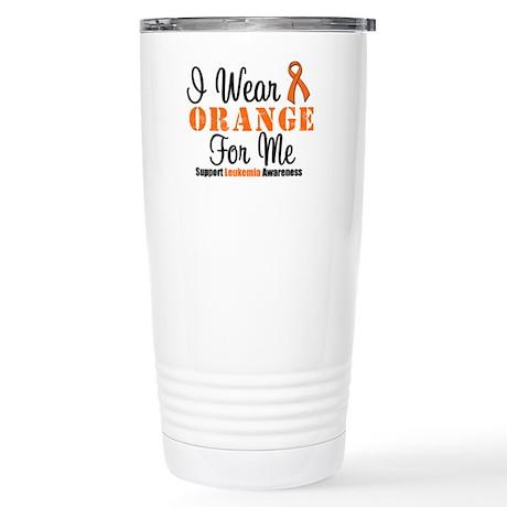 I Wear Orange Ribbon Stainless Steel Travel Mug