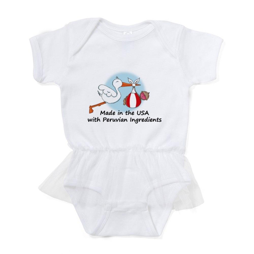 CafePress Stork Baby Peru 2 Baby Tutu Bodysuit 324170586