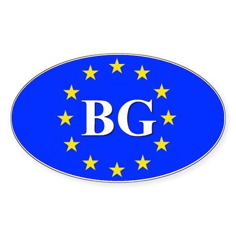 European Union Bulgaria Oval Sticker
