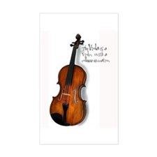 The Glorious Viola Rectangle Decal