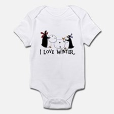 Penguins Love Winter Infant Bodysuit