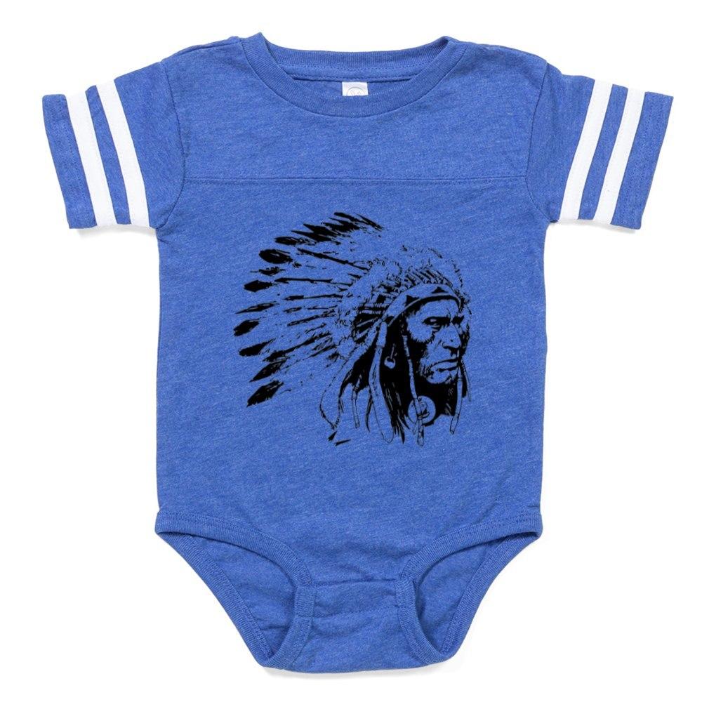 CafePress Native American Chieftain Baby Football Bodysuit 324179392