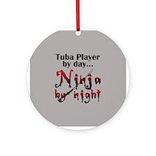 Tuba Ninja Ornament (Round)