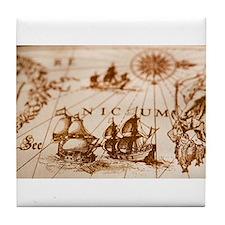 Cute Sail world Tile Coaster