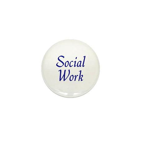 Social Work (blue) Mini Buttons (10 pack)