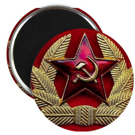 "Soviet Union Red Star 2.25"" Magnet (10 pack)"