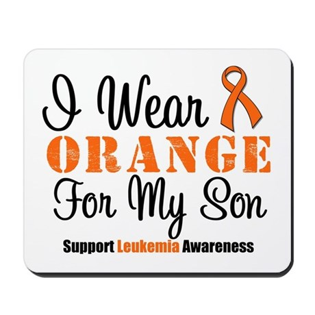 I Wear Orange Ribbon Mousepad