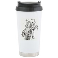 CatoonsT Hair Stylist/Barber Cat Travel Mug