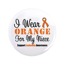 "I Wear Orange Ribbon 3.5"" Button"