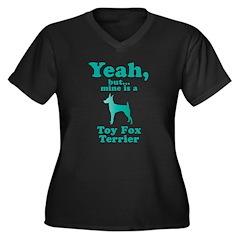 Toy Fox Terrier Women's Plus Size V-Neck Dark T-Sh