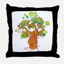 Squiggle Tree Throw Pillow