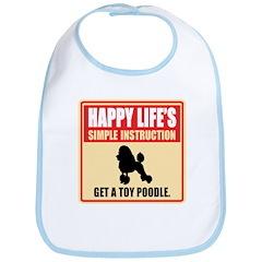 Toy Poodle Bib