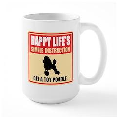 Toy Poodle Large Mug