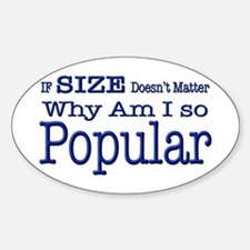 Popular Oval Decal