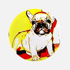"""French Bulldog Art 3.5"""" Button"""