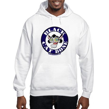 Black Cat Bone Round Logo Hooded Sweatshirt