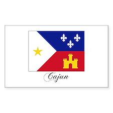 Cajun Flag Rectangle Decal