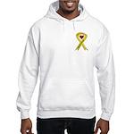Military wife yellow ribbon OEF Hooded Sweatshirt