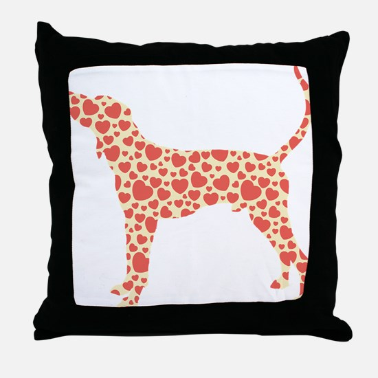 Treeing Walker Coonhound Throw Pillow
