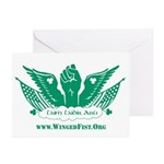 Winged Fist Greeting Cards (Pk of 20)